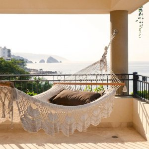 Oceanfront Penthouse  - Terrace with oversized hammock