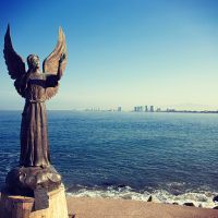 Angel Statue Malecon in Puerto Vallarta