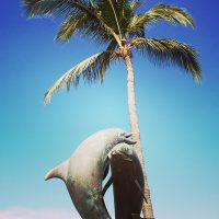Dolphins Statue at Malecon Puerto Vallarta