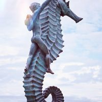 Sea Horse Statue at Malecon Puerto Vallarta