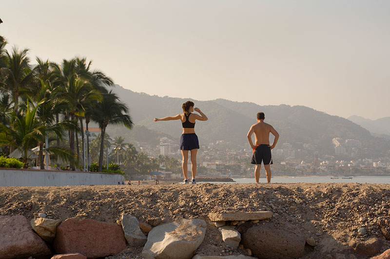 Running at Puerto Vallarta