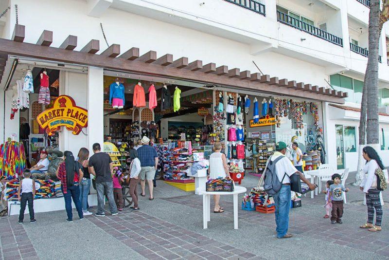 Souvenir Shopping Along the Malecon Puerto Vallarta