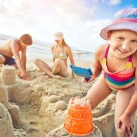 Family Fun - Building Sand Castles