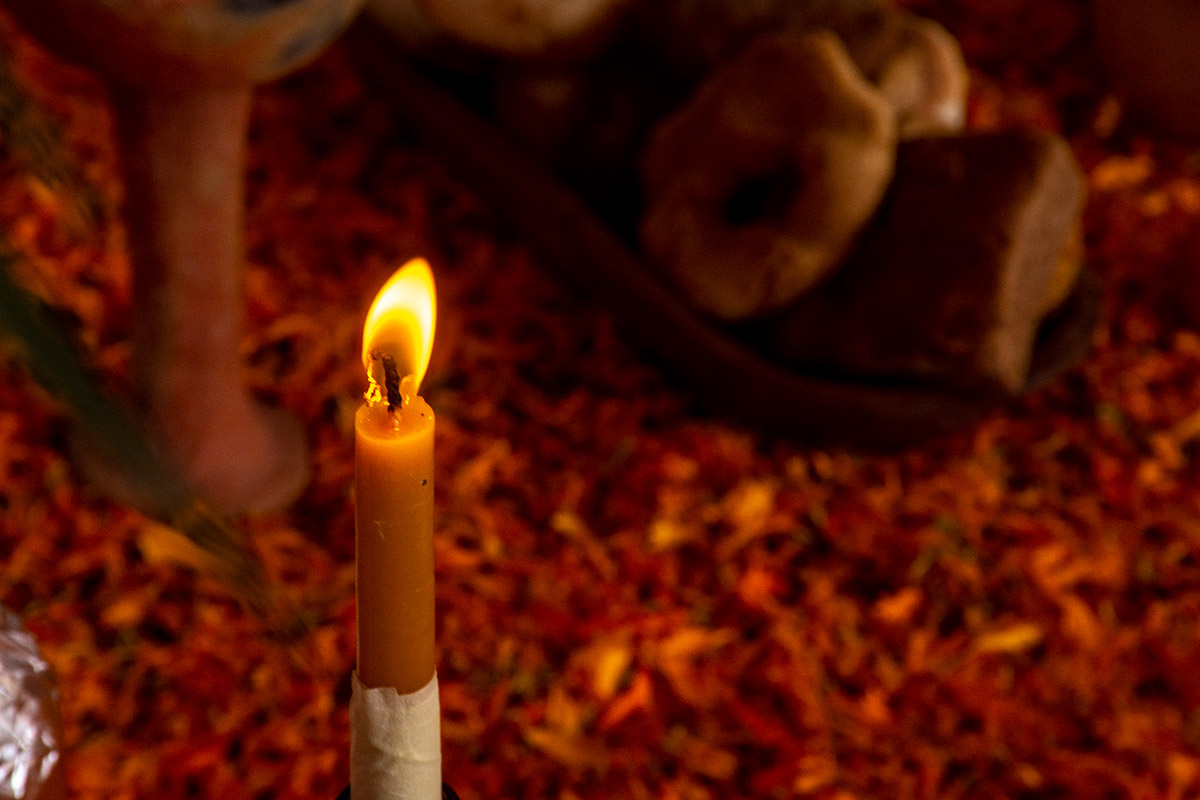 Candles day of the dead