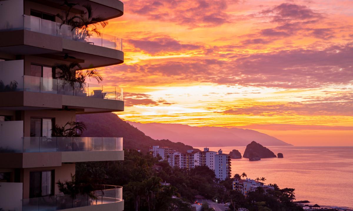 garza blanca preserve puerto vallarta sunset view