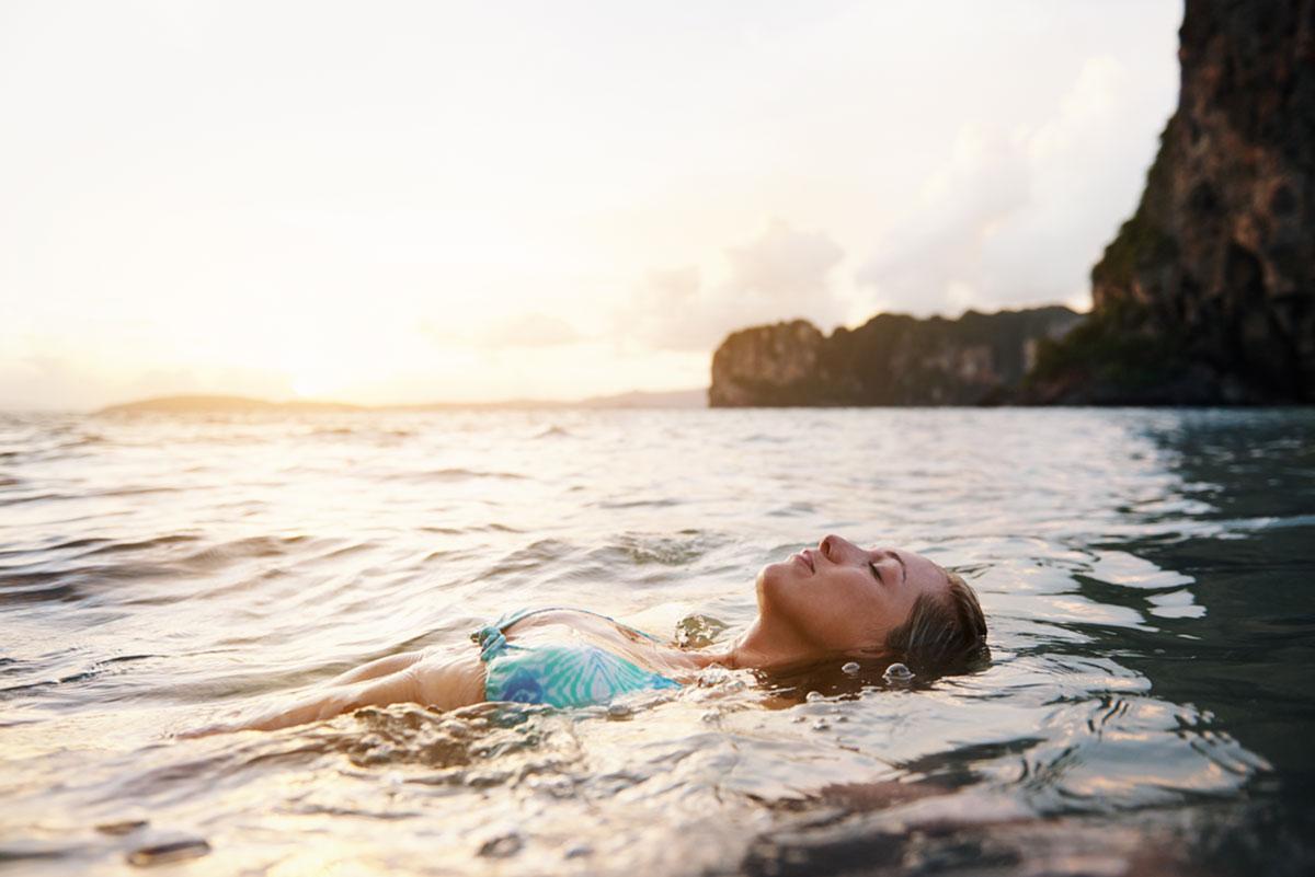 girl swimming in puerto vallarta