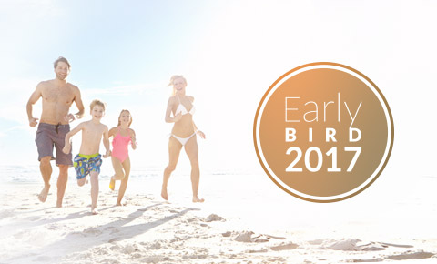 Early Bird Bonus 2017 Best vacations