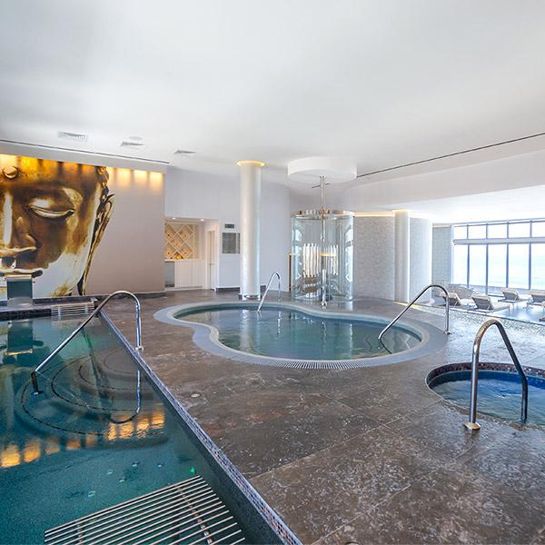 Hydrotherapy circuit at Garza Blanca Resort Los Cabos