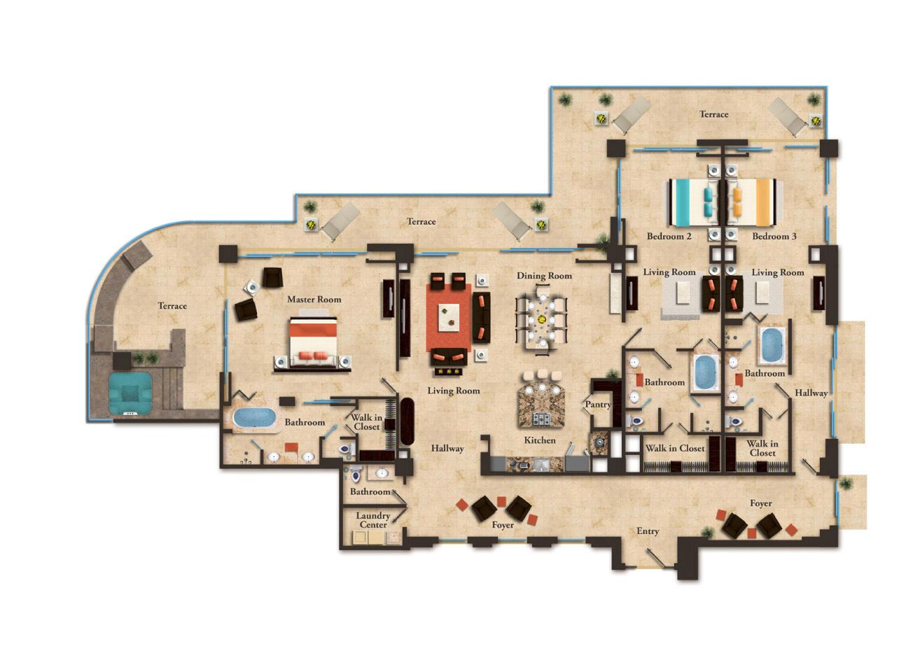 Oceanfront Penthouse Garza Blanca Preserve Resort